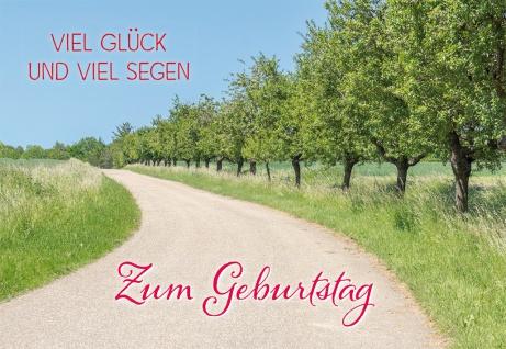 Glückwunschkarte Geburtstag Glück Segen 6 St Kuvert Bibelwort Weg Engel Wunsch
