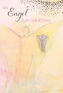 Glückwunschkarte Dein Engel zum Geburtstag (5 Stück) Grußkarte mit Kuvert