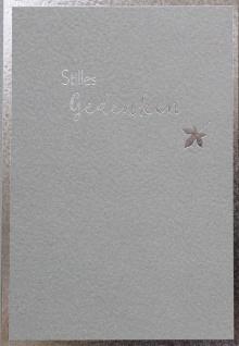 Trauerkarte Stilles Gedenken mit Bibelwort Grußkarte mit Kuvert (6 Stück)