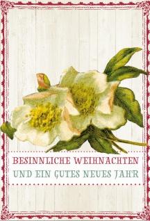 Glückwunschkarte Christrosen Besinnliche Weihnachten (6 Stück) Grußkarte Kuvert