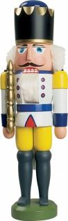Nussknacker König weiß 29 cm Holz-Figur Handarbeit aus dem Erzgebirge