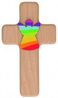 Kreuz für Kinder Schutzengel 14 cm Geschenkbox Kruzifix Holz-Kreuz