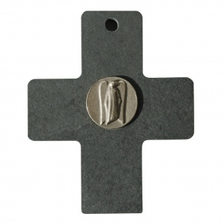 Wandkreuz Schiefer Engel Neusilber Kreuz 10 cm Kruzifix Christlich