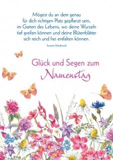 Postkarte Namenstag Susanne Schutkowski 10 St Adressfeld Entfaltung Wurzel Segen