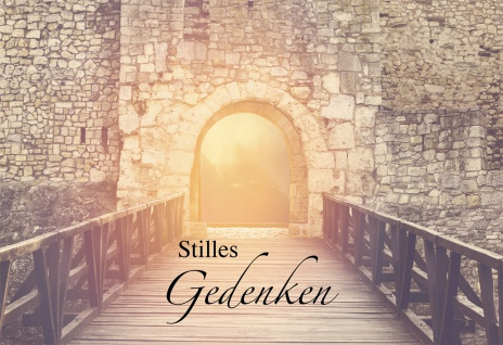 Trauerkarte Stilles Gedenken (6 St) Samuel Lutherbibel Kuvert Grußkarte