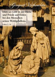 Postkarte Gesegnete Weihnachten (10 St) Krippe Grußkarte Bibelwort Lukas