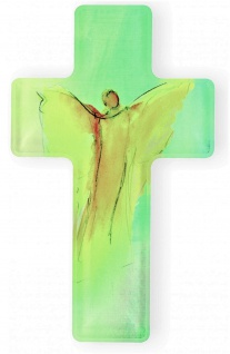 Wandkreuz Dein Engel 14 cm Acrylglas Schmuckkreuz Glaskreuz