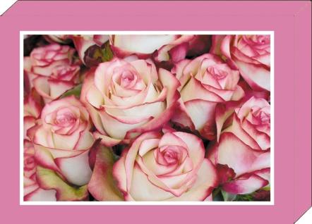 Grußkarten-Geschenkbox Rosen 4 Motive á 2 Karten 8 Klappkarten und 8 Kuverts