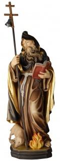 Heiliger Antonius der Große Holzfigur geschnitzt Südtirol Schutzpatron
