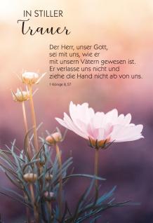 Trauerkarte Irmgard Partmann 6 St Kuvert Bibelwort Bibelmeditation Beistand Gott