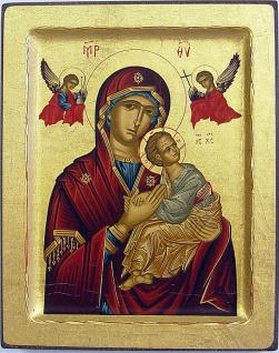 Ikone Madonna der Passion 12 x 10 cm Griechenland