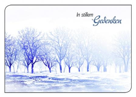 Trauerkarte In stillem Gedenken Herbststimmung (6 Stck) Beileidskarte Kondolenz