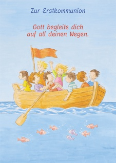 Kommunionkarte Kinder Boot Zur Erstkommunion (6 St) Glückwunschkarte Kommunion