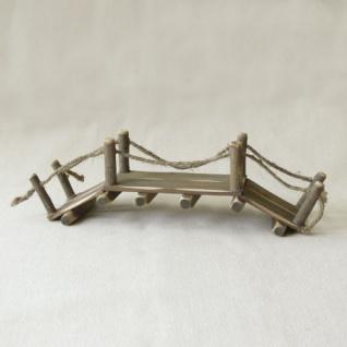 Brücke Holz handgefertigt 26 x 8 cm Zubehör für Weihnachtskrippe