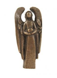 Schutzengel Engel des Herzens 7, 5 cm, Bronze Bronzeengel