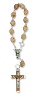Rosenkranz 10er Armband Holz Perle marmoriert 15 cm Auto-Rosenkranz Rückspiegel - Vorschau