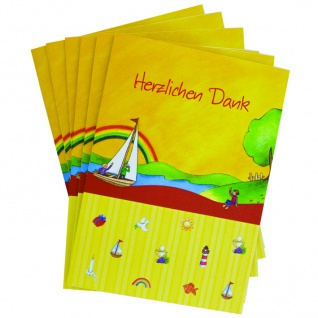 Danksagungskarte Herzlichen Dank, Erstkommunion (6 Stck) Grußkarte Kuvert