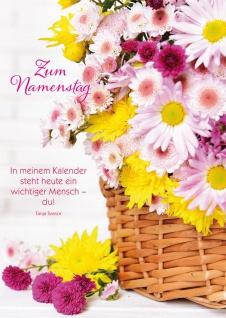 Postkarte Namenstag Tanja Sassor Gedenktag Gratulation (10 Stück) Adressfeld