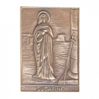 Namenstag Susanne 8 x 6 cm Bronzeplakette Bronzerelief Wandbild Schutzpatron