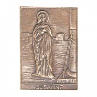 Namenstag Susanne 8 x 6 cm Bronzeplakette
