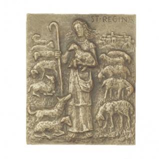 Namenstag Regina Bronzeplakette 13 x 10 cm Bronzerelief Wandbild Schutzpatron