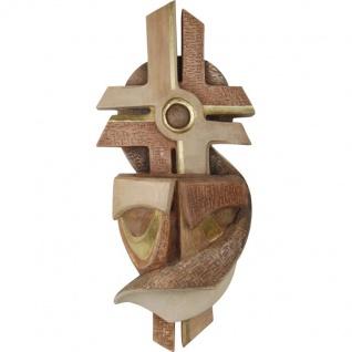 Besinnlicher Weihwasserkessel Holzfigur geschnitzt Südtirol