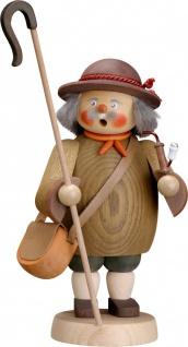 Räuchermännchen Schäfer 19 cm Seiffen Erzgebirge Handarbeit Holzfigur