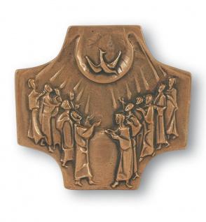 Schmuckkreuz Firmkreuz 17 cm Wandkreuz zur Firmung Bronze Kruzifix Kreuz