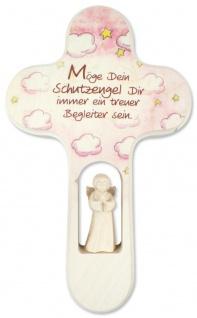 Kreuz für Kinder Schutzengel Gebet Baby Engel Kruzifix Holz-Kreuz