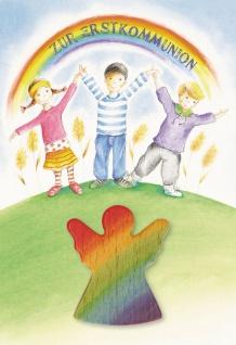 Kommunionkarte Handschmeichler Zur Erstkommunion (3 St) Grußkarte Kuvert