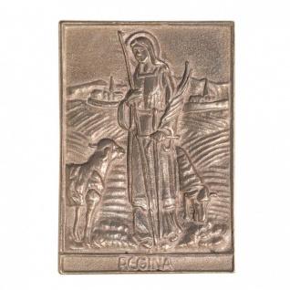 Namenstag Regina 8 x 6 cm Bronzeplakette Bronzerelief Wandbild Schutzpatron