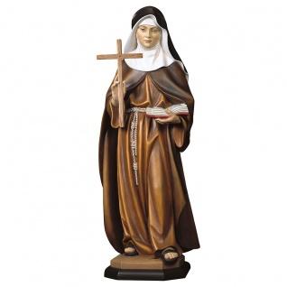 Heilige Franziska Schervier mit Kreuz Heiligenfigur Holz geschnitzt
