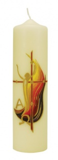 Osterkerze Auferstanden 270 x 70 mm Abtei St. Hildegard Deutsche Herstellung