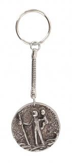 Schlüsselanhänger Christophorus Neusilber Ø 3, 5 cm Christopherus Anhänger