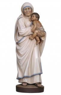 Mutter Teresa Heiligenfigur Holz geschnitzt handbemalt Südtirol