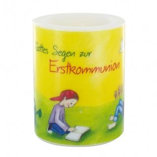 Tischkerze Gottes Segen zur Erstkommunion 12 x 10 cm Geschenk zur Kommunion