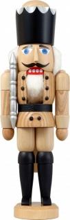 Nussknacker König natur 29 cm Holz-Figur Handarbeit aus Seiffen im Erzgebirge