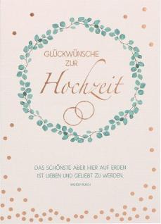 Glückwunschkarte Hochzeit 6 St Kuvert Wilhelm Busch Lebensweg Treue Liebe Ehe
