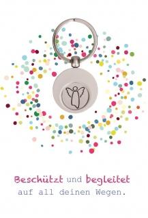 Grußkarte 5 St Kuvert Heidi Rose Engel-Schlüsselanhänger Einkaufswagen-Chip