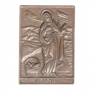 Namenstag Verena 8 x 6 cm Bronzeplakette Bronzerelief Wandbild Schutzpatron