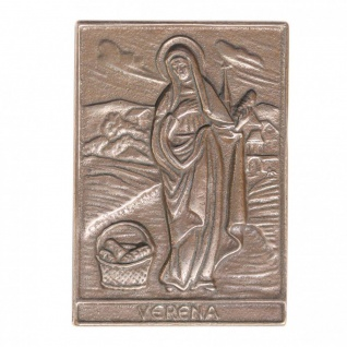 Namenstag Verena 8 x 6 cm Bronzeplakette