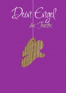 Karte Engel Holz-Anhänger Dein Engel des Trostes (5 St) Grußkarte Kuvert