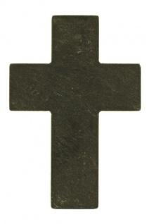 Wandkreuz Schiefer schlicht 9, 5x6 cm Handarbeit Vulkaneifel Schmuckkreuz UNIKAT