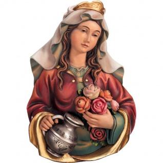 Heilige Elisabeth Brustbild Holzfigur geschnitzt Südtirol Schutzpatronin