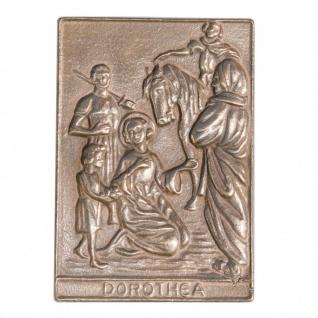 Namenstag Dorothea 8 x 6 cm Bronzeplakette Bronzerelief Wandbild Schutzpatron