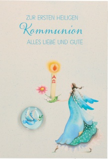 Glückwunschkarte Glasmagnet zur ersten heiligen Kommunion 5 Stk Kuvert