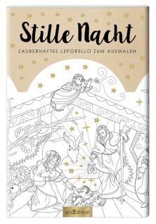 Leporello Buch Stille Nacht Weihnachtskrippe zum Ausmalen