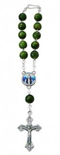 Rosenkranz 10er Armband Kunstguss-Perle Verschluss 15 cm Auto-Rosenkranz
