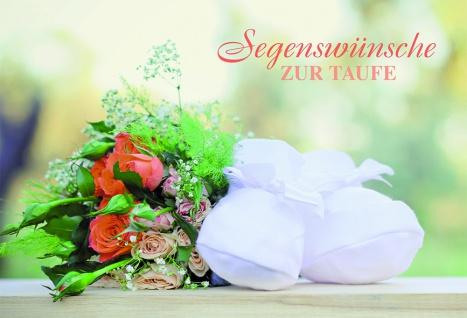 Taufkarte Segenswünsche zur Taufe (6 Stck) Psalm Glückwunschkarten Set Kuvert