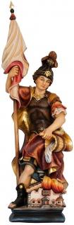 Heiliger Florian Heiligenfigur Holz handbemalt Schutzpatron der Feuerwehr